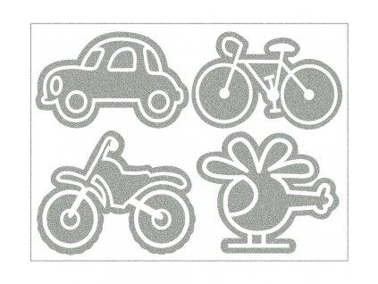 Reflexní nažehlovačky na bundu dopravní prostředky