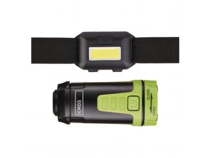 Sada LED čelovky a kempingové LED svítilny EMOS