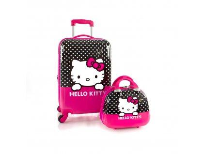 Cestovní sada Heys Kufr HELLO KITTY kufr a kosmetický kufřík pro holky