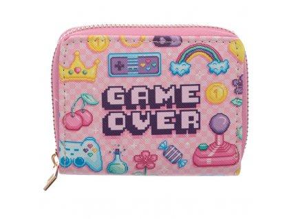 Peněženka Game Over růžová pro dívky