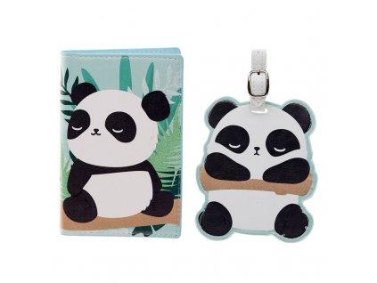 Obal na pas a visačka na zavazadlo Panda