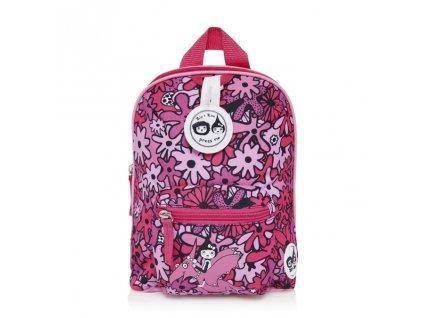 Růžový batůžek pro nejmenší děti 1 rok, 2 roky, 3 roky