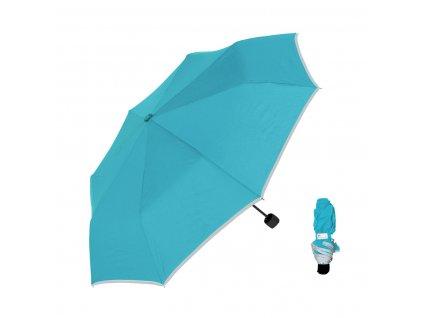 3M Reflexní deštník světle modrá skládací