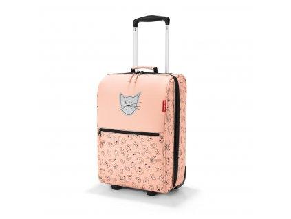 Dětský kufr REISENTHEL psi a kočky růžová