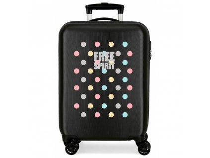 Cestovní kufr ABS Movom Free Dots 55 cm kabinnovy