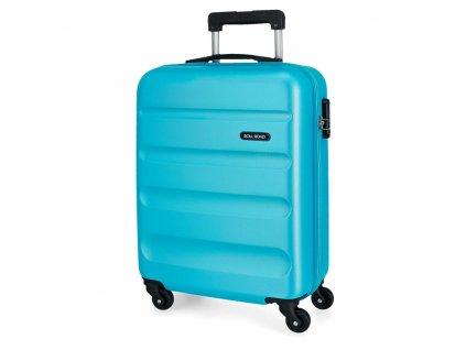 Cestovni kufr Roll Road modrý kabinové zavazadlo