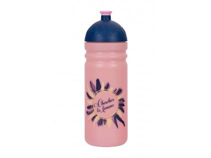 Zdravá lahev Peříčka 0,7l růžová