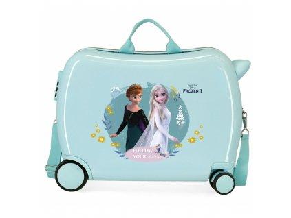 Dětský kufřík Ledové Království tyrkysový odrážedlo pro holky