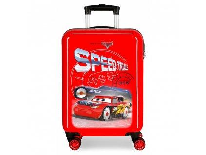 Cestovní kufr ABS Cars Cars Speed červený joummabags