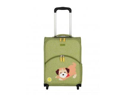 Dětský kufr Travelite 2W Pejsek zelený