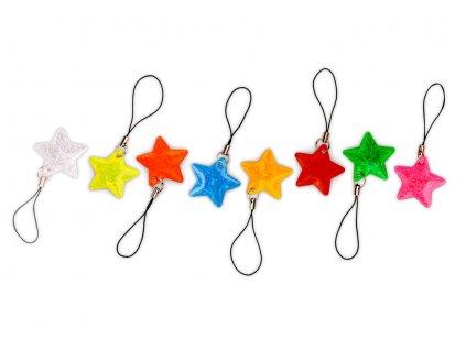 Reflexní taháček hvězdička