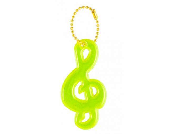 Reflexní přívěsek houslový klíč
