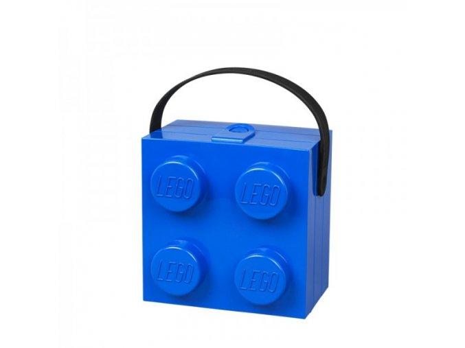 LEGO box na svačinu s rukojetí - modrá