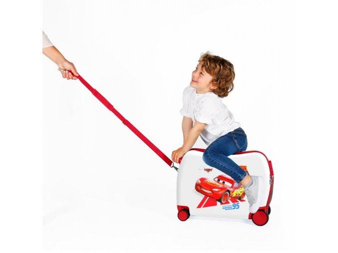 Dětský kufr na kolečkách, odráčedlo Cars 01