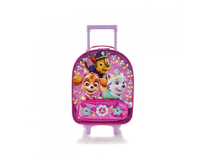 Dětský kufr HEYS tlapková patrola, růžový