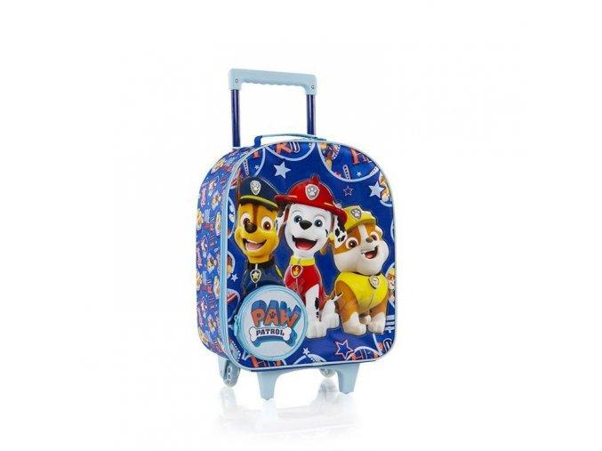 Dětský kufr Tlapková patrola, textilní,modrý
