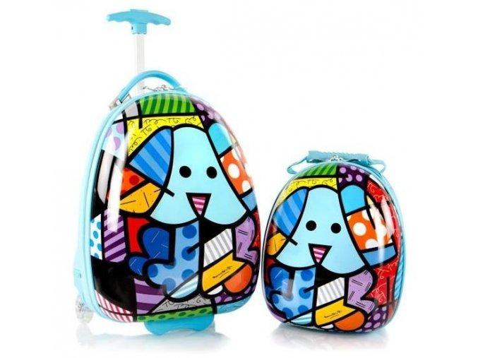 Dětský kufřík na kolečkách Heys pes