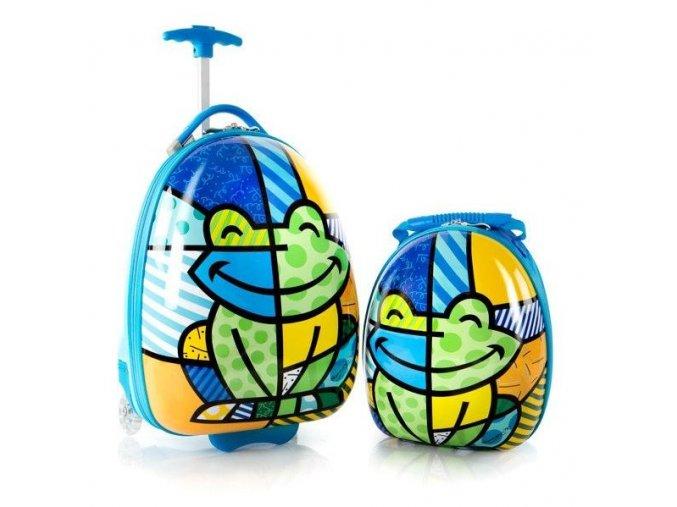 Sada kufru a batohu HEYS žába