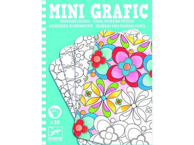 Mini grafic květinové omalovánky