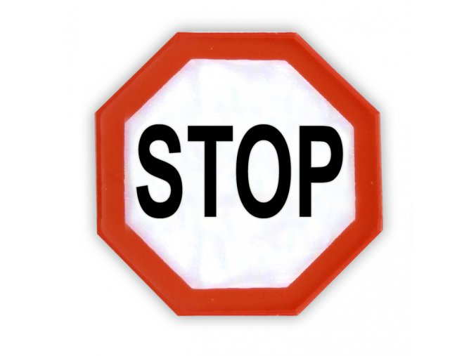 Reflexni samolepka stop