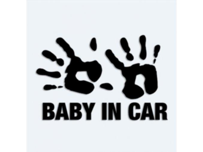 Samolepka Baby in car - otisk ručiček