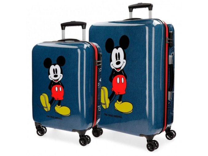 Sada 2 kufrů Mickey Mouse, modrá, 55-68 cm