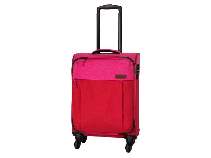 Palubní kufr textilní TRAVELITE NEOPAK černvená růžová
