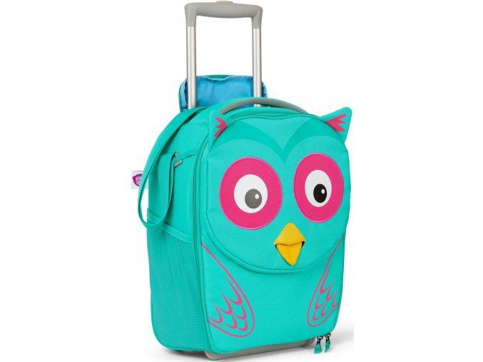 Dětský cestovní kufřík Affenzahn sova tyrkysový