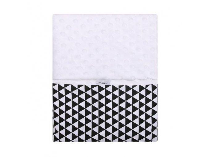Dětská oboustranná deka z Minky Woma černobílá