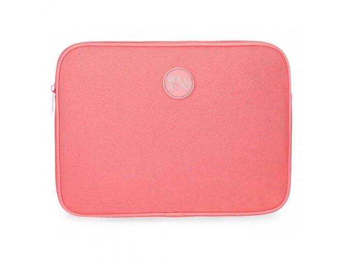 Cestovní pouzdro na tablet Roll Road na zip korálový, růžový