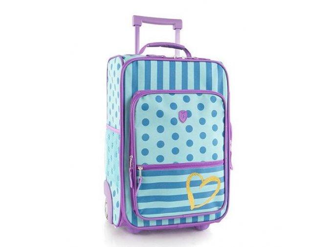 Dětský kufr HEYS KIDS fashion dots/stripes