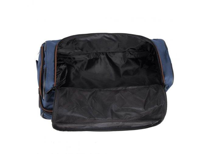 Cestovní taška na kolečkách TRAVELITE BASICS DOUBLEDECKER BLUE, modrá