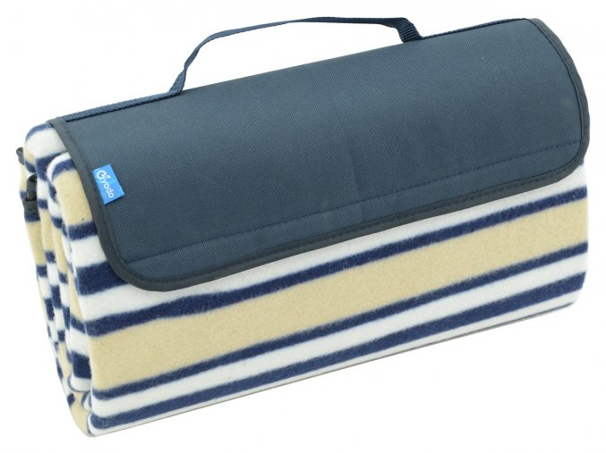 Pikniková deka Cattara fleece modrá 150x135cm