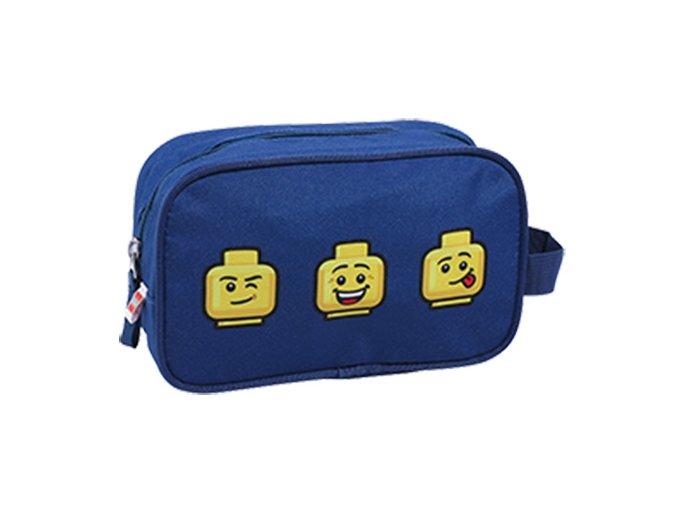 Toaletní taška LEGO Faces Blue leho hlavy