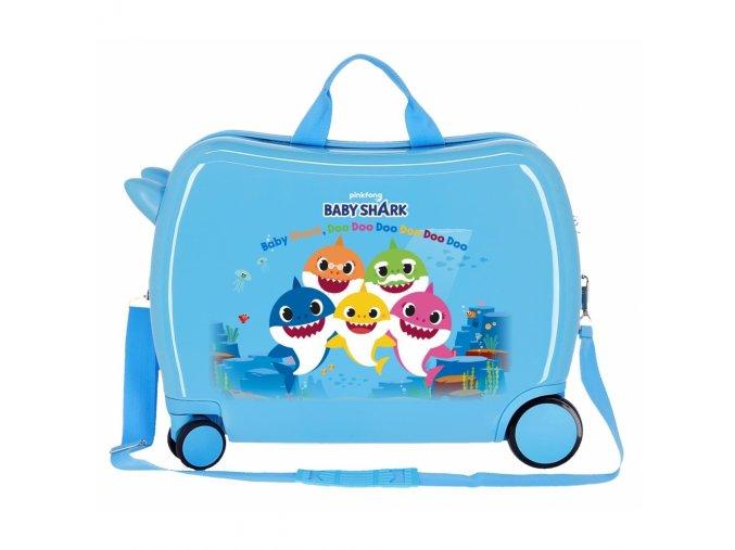 Baby shark modrý kufr na kolečkách odrážedlo