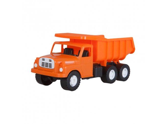 TATRA oranžová malá 30 cm auto pro děti náklaďák