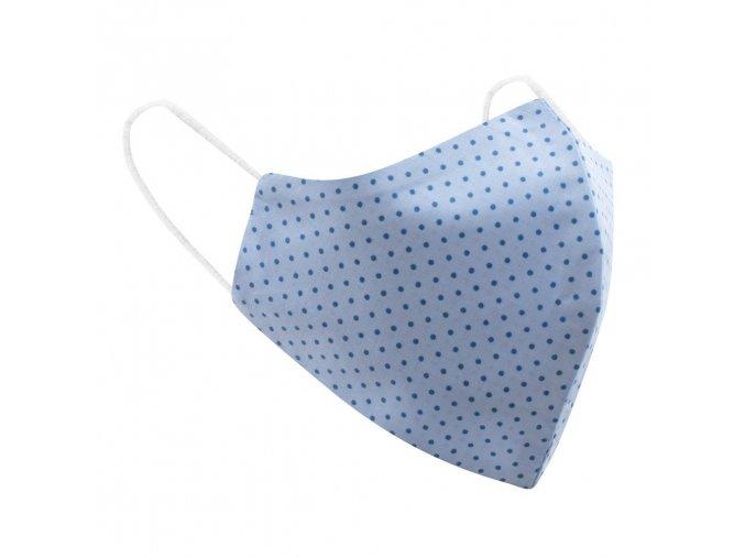 Dámská bavlněná rouška Belisima světle modrá, puntík