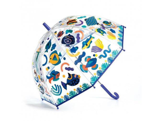 Dětský deštník Oceán djeco průsvitný, ryby