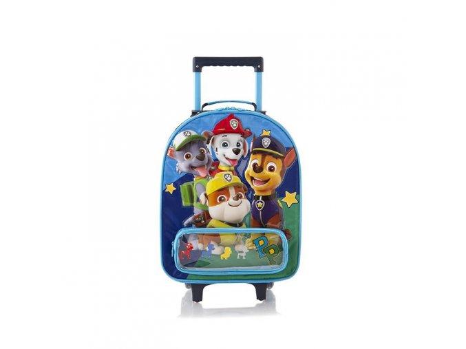 Dětský textilní  kufr Tlapková patrola, modrý
