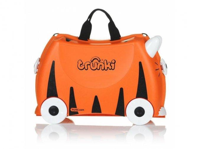 Dětský kufřík na kolečkách, odrážedlo, tygr, Trunki
