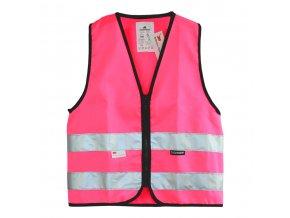 Dětská reflexní vesta růžová pro holky