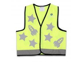 Dětská reflexní vesta žlutá