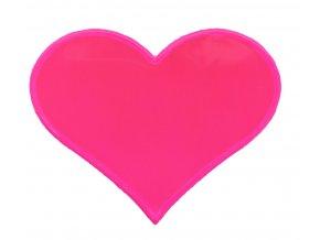 Reflexní samolepka srdíčko růžové