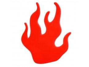Reflexní samolepka plamínek, oheň