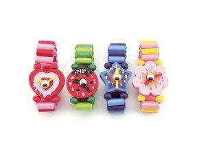 Dřevěné náramkové hodinky