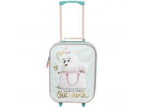 Malý dětský cestovní kufr na kolečkách pejsek