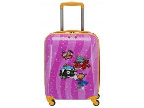 Dětský kufr Statečná autíčka, růžový
