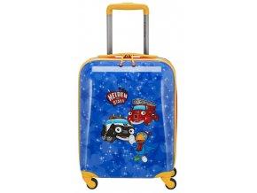 Dětský kufřík na kolečkách, modrý