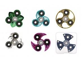 Fidget Spinner chrom kovový
