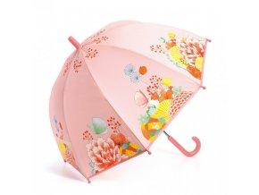 Dětský deštník Květinová zahrada holky růžový